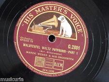 """78rpm 12"""" MAREK WEBER waldteufel waltz potpourri C 2801"""