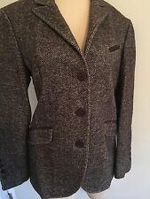 Brunello Cucinelli Ladies Brown Tweed Jacket Classic Size 42 100% Wool