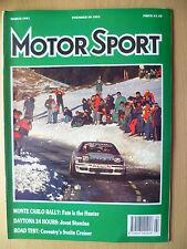Revista Deporte del Motor-Monte Carlo Rally: destino está Hunter, marzo 1991,Vol. LXVII, No.3