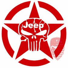 Jeep,Punisher,Star,Jeep Life,#JeepMafia,Jeeper,Jeeping,Lifes Good,Vinyl Decal