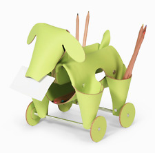 Amigos Dog Lime Green Leather Desk Organizer Office Home By Vacavaliente