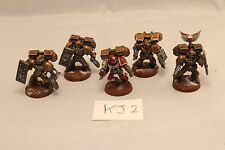 Warhammer Space Marine Blood Angels Death Company w/ Customized Shields Painted