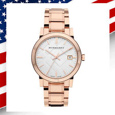 *USA SELLER* Swiss Made New Authentic Burberry Unisex Rose Gold Watch BU9004