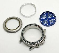 Boitier et cadran bleu marine - chronographe NOS Valjoux 7750 - case and dial