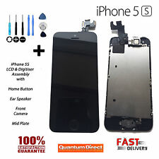 BLACK Retina LCD & Digitiser Touch Screen Assembly with Parts FOR iPhone 5S & SE