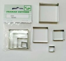 Cake Decorating Metal 222S Squares by Framar Cutters