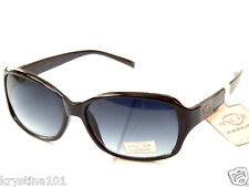 OSCAR DE LA RENTA 1230 BLACK GUNMETAL LOGO SHADES WOMENS OSCAR SUNGLASSES NEW