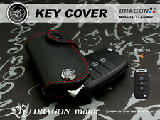 Leather Key fob Holder Case Chain Cover FIT For KIA Picanto Sportage Mohave 163A
