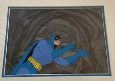 1977 Batman signed Bob Kane Animation Production Cel Original Background CoA