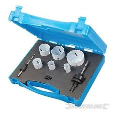 Bi-Metal Holesaw Set 9 Piece Plumbers Hole Cutter Saw Metal Wood 595759