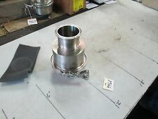 "Sanitary S/S Non-Return Check Valve 3"" Sanitary Flange 6.5"" E-E Eccentric (NEW)"
