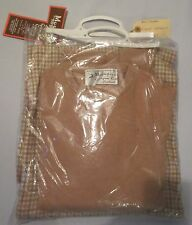 Sweater Scottish Beige Lambswool, Cashmere, Mohair Houndstooth wool fabric NEW