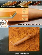 covering adhesif ronce de noyer clair - thermoformable - (50 cm x 1.22 m)