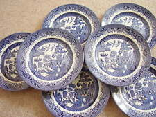 Churchill England porcelain blue and white plate,set of 7, 17 cm wide