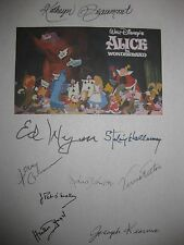 Alice in Wonderland Signed Classic Film Script 1951 X9 Kathryn Beaumont reprint