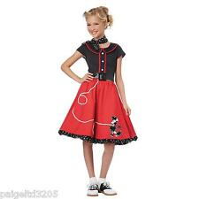 Totally Ghoul 50's Hop Red/Black Girl's Halloween Costume  Large Size 8-12