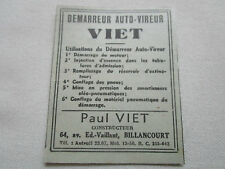 3/1935 PUB P VIET DEMARREUR AUTO-VIREUR MOTEUR AVION AIRCRAFT ORIGINAL FRENCH AD