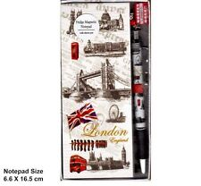 LONDON ICON FRIDGE MAGNET MEMO PAD SHOPPING LIST NOTE PAD WITH CHARM PEN