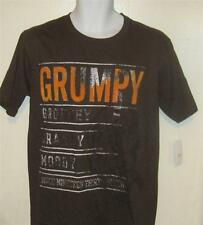 NEW NWT DISNEY STORE GRUMPY Snow White mens sz S brown t-shirt j113