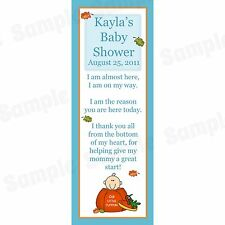 24 Personalized Baby Shower Bookmarks - Little Pumpkin Baby Shower