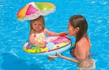 Intex Fish and Friends Baby Float Infant Swimming Pool Raft with Sunshade