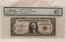 1935A $1 Hawaii PMG 67 EPQ FRN FR 2300 Silver Certificate Note Brown Seal 1935