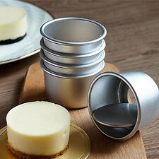 Popular 5Pcs Round Mini Cake Pan Removable Bottom Pudding Mold DIY Baking Tools