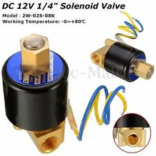 "1/4"" 2 Way Electric Solenoid Valve DC 12V Air Gas Fuel Brass Normally Open Type"