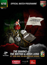 2009 BRITISH & IRISH LIONS v SHARKS PROGRAMME, MATCH 4, tour of SOUTH AFRICA