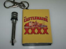 Castlemaine XXXX Custom Match Survival Flint Cigarette Lighter Fire Key Ring 4X