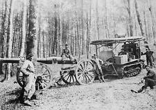 French Army Holt Tractor & Gun Vosges 1915 World War 1 7x5 Inch Reprint Photo R