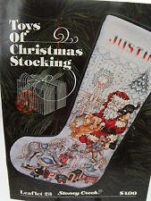 Cross Stitch Pattern Chart Stoney Creek Toys Of Christmas Stocking 1989