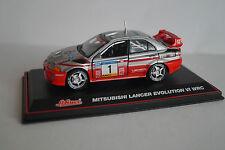 Schuco modello di auto 1:43 MITSUBISHI Lancer Evolution VI WRC N. 1