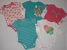 NWT $48 PUMA 5pc romper GIRL size 3/6M multi color