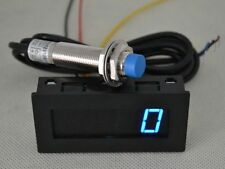 New Blue LED Tachometer RPM Speed Meter + Proximity Switch Sensor NPN 3 Wire