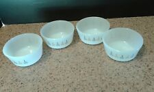 4 Vintage Fire King Candle Glow Custard Cup or Small Bowls VGUC