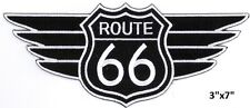 "Large ROUTE 66 with Wing Embroidered Patches 3""x7"""
