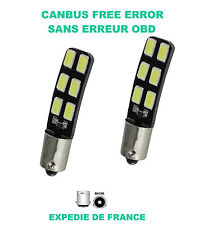 2 VEILLEUSE LED  SMD C4 PICASSO BAX9S H6W BLANC XENON 6000K ANTI ERREUR 12V