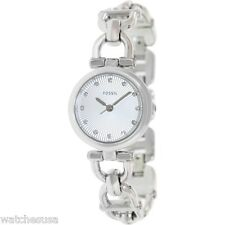 Fossil Women's Olive Three Hand Stainless Steel Watch ES3348