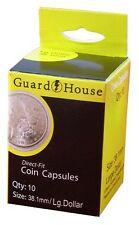 Guardhouse Large Dollar 38.1mm Direct Fit Coin Capsules, 10 pack