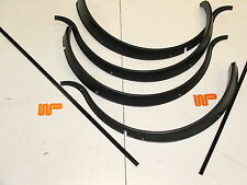 CLASSIC MINI - ROVER BLACK PLASTIC WHEEL ARCH SET + Sill Trims. AJM1117