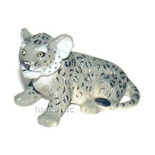 AAA 96725SIT Snow Leopard Cub Sitting Model Toy Figurine Replica - NIP