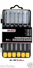 Precision SCREWDRIVER SET 6 piece  KIT 3 slotted + 3 phillips small Mini