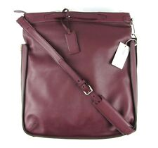 New BRIONI Oxblood Pebbled Leather Duffle Hobo Shoulder Bag Tote Carryall NWT!