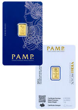 PAMP Suisse 1 Gram .9999 Gold Bar Fortuna Sealed With Assay Certificate SKU26583