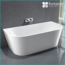Harper Back to Wall Bath Tub Bathtub White Elegant Bathroom 1700 Modern Luxury