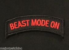 BEAST MODE ON TAB USA ARMY OPS RED VELCRO® BRAND FASTENER MORALE BADGE PATCH