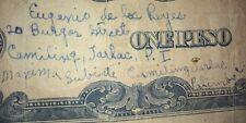 Philippines 1 Peso Japanese Banknote Eugenio De Los Reyes Camiling Tarlac