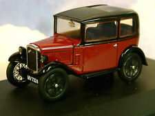 OXFORD DIECAST 1/43 AUSTIN SEVEN 7 RN SALOON IN MAROON RED & BLACK ASS003