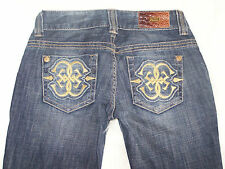 {*-*} Womens Guess Premium Stretch Blue Jeans Daredevil Boot Size 24